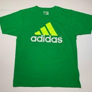 Adidas T Shirt Mens XL Green Neon